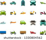 color flat icon set   passenger ... | Shutterstock .eps vector #1330804562