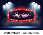 shining retro billboard with... | Shutterstock .eps vector #1330827932