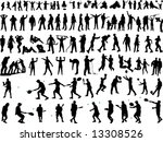 hundreds of people silhouettes  ... | Shutterstock .eps vector #13308526