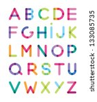 color alphabet | Shutterstock .eps vector #133085735
