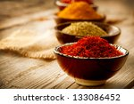 spice. various spices over... | Shutterstock . vector #133086452