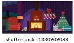 quiet christmas night | Shutterstock .eps vector #1330909088