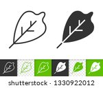 leaf black linear and...   Shutterstock .eps vector #1330922012