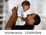 father and his son playing... | Shutterstock . vector #133093346