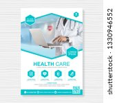 healthcare cover a4 template... | Shutterstock .eps vector #1330946552