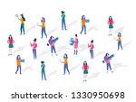 woman in tech  happy women or... | Shutterstock .eps vector #1330950698