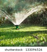 landscape of irrigation garden. ... | Shutterstock . vector #133096526