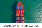 container ship going to deep... | Shutterstock . vector #1330969358