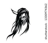 creepy head of a demon with one ... | Shutterstock .eps vector #1330974362