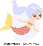 mermaid character beautiful... | Shutterstock .eps vector #1330974962