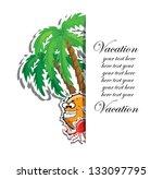 travel vacation vector... | Shutterstock .eps vector #133097795