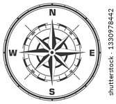 vector geographic compass icon. ... | Shutterstock .eps vector #1330978442
