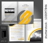 vector gray brochure template... | Shutterstock .eps vector #133097846
