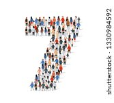 large group of people in number ... | Shutterstock .eps vector #1330984592