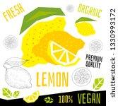 fresh lemon citrus grapefruits... | Shutterstock .eps vector #1330993172