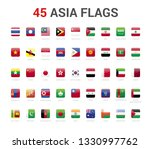 asia flags of country. 45 flag...   Shutterstock .eps vector #1330997762