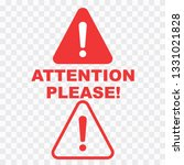 attention please badge or... | Shutterstock .eps vector #1331021828