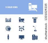 hardware icon set and sound...