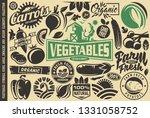 vegetables design elements and... | Shutterstock .eps vector #1331058752