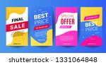 instagram stories sale banner... | Shutterstock .eps vector #1331064848