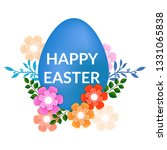realistic easter eggs  for... | Shutterstock .eps vector #1331065838