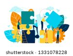 people with puzzle pieces... | Shutterstock .eps vector #1331078228