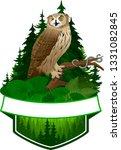 vector woodland emblem with... | Shutterstock .eps vector #1331082845