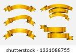 golden ribbon banner set | Shutterstock .eps vector #1331088755