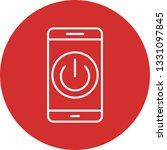 illustration power off mobile...   Shutterstock . vector #1331097845