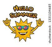 hello summer. sun smile design. ... | Shutterstock .eps vector #1331104685