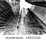 abstract architecture | Shutterstock . vector #13311103