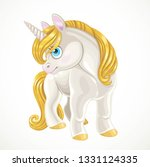 fairytale cartoon unicorn with... | Shutterstock .eps vector #1331124335