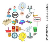 expertise icons set. cartoon... | Shutterstock . vector #1331133338