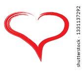 heart vector. hand drawn icon.... | Shutterstock .eps vector #1331137292