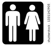 washroom sign and restroom sign....   Shutterstock .eps vector #1331142905