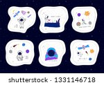 universe space astronaut nature ... | Shutterstock .eps vector #1331146718