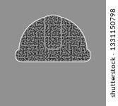 hardhat sign. vector. black...   Shutterstock .eps vector #1331150798