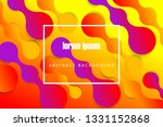 minimal fluid colorful abstract ... | Shutterstock .eps vector #1331152868