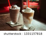 delicious ice blended coconut... | Shutterstock . vector #1331157818