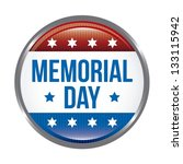 Stock vector memorial day button over white background vector illustration 133115942