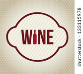 wine label over beige...   Shutterstock .eps vector #133115978