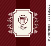 menu template over red... | Shutterstock .eps vector #133116272