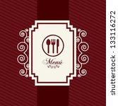 menu template over red... | Shutterstock .eps vector #133116272