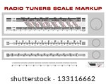 radio tuner scale dashboard... | Shutterstock .eps vector #133116662