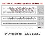 radio tuner scale dashboard... | Shutterstock .eps vector #133116662