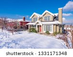 a typical american house in... | Shutterstock . vector #1331171348