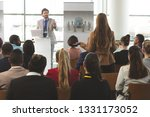 rear view of caucasian... | Shutterstock . vector #1331173052