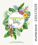 tropical hawaiian party... | Shutterstock .eps vector #1331173235