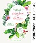tropical hawaiian wedding... | Shutterstock .eps vector #1331173238