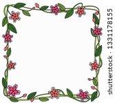 wearth flower vector | Shutterstock .eps vector #1331178155